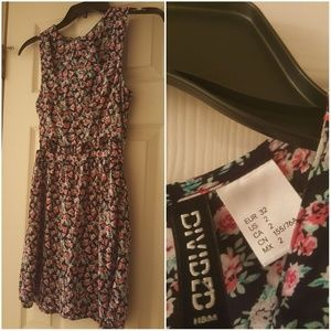 H&M divided size 2 floral dress